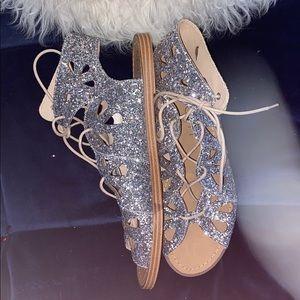 Sole Society NWOB Lylia Glitter Gladiator sandals